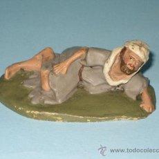 Figuras de Belén: FIGURA PESEBRE(BELEN) EN TERRACOTA (BARRO). Lote 27562159