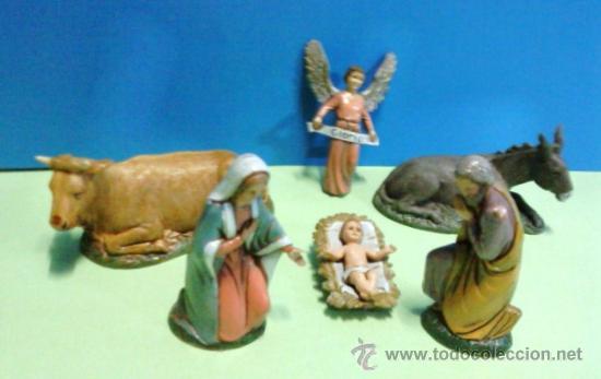Figuras de Belén: navidad - belen / pesebre - nacimiento - 6 piezas - resina- 10cm - esc. landi -ver foto- calidad - Foto 2 - 29380274