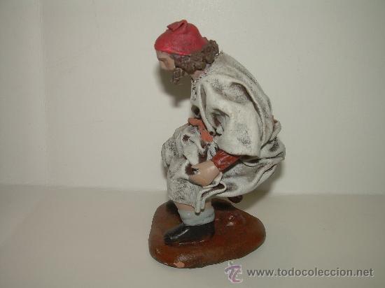 Figuras de Belén: ANTIGUA FIGURA DE TERRACOTA.....CAGANE - CAGANER...CAGON - Foto 2 - 30519772