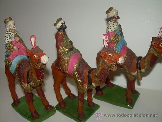 Figuras de Belén: ANTIGUAS Y BONITAS FIGURAS DE TERRACOTA. - Foto 2 - 30904755