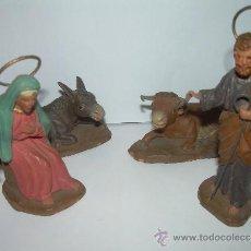 Figuras de Belén: ANTIGUAS Y BONITAS FIGURAS DE TERRACOTA.. Lote 30987103