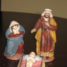 Figuras de Belén: SAN JOSE LA VIRGEN Y EL NIÑO PARA DE BARRO PARA EL BELEN - SAN JOSE 11 CM. Lote 31124442