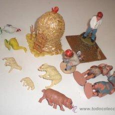 Figuras de Belén: LOTE ANTIGUO DE FIGURAS PARA PESEBRE. Lote 32873594
