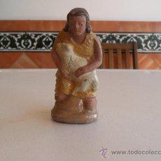Figuras de Belén: FIGURA DE BELEN ANTIGUAS EN BARRO O TERRACOTA. Lote 32112484