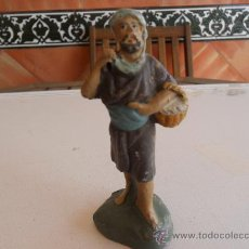 Figuras de Belén: FIGURA DE BELEN ANTIGUAS EN BARRO O TERRACOTA. Lote 32113187