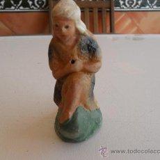 Figuras de Belén: FIGURA DE BELEN ANTIGUAS EN BARRO O TERRACOTA. Lote 32113542