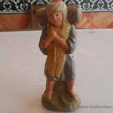 Figuras de Belén: FIGURA DE BELEN ANTIGUAS EN BARRO O TERRACOTA. Lote 32113913