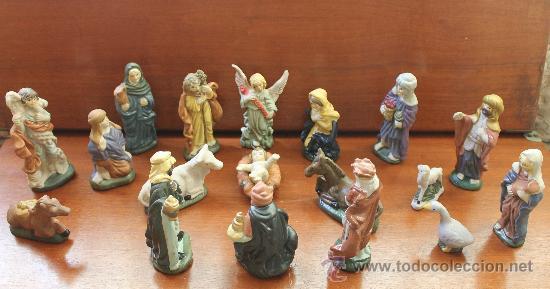 Belen nacimiento popular de ceramica pintado a comprar for Figuras ceramica