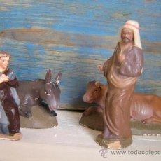 Figuras de Belén: ANTIGUO NACIMIENTO PARA RESTAURAR DE TERRACOTA. FALTA EL NIÑO JESÚS.. Lote 34501034