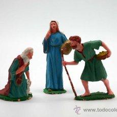 Figuras de Belén: LOTE DE TRES FIGURAS DE NACIMIENTO O BELÉN. Lote 34624509