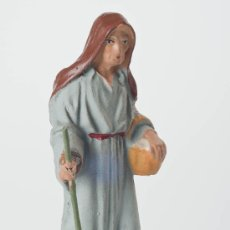 Figuras de Belén: FIGURA DE BELEN O PESEBRE DE TERRACOTA, MUJER CON CESTA. Lote 34704982