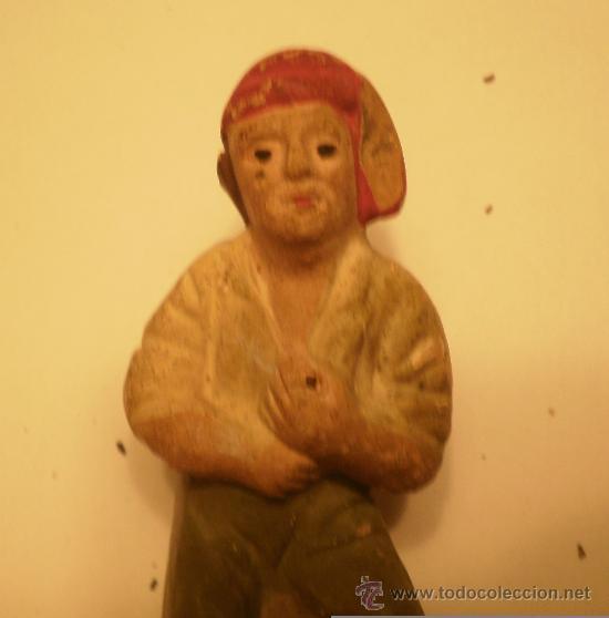 Figuras de Belén: FIGURA BELEN-PESEBRE PASTOR CATALAN PESCANDO ANTIGUO - Foto 3 - 34750601