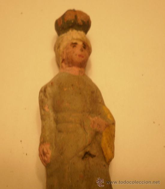 Figuras de Belén: FIGURA BELEN-PESEBRE EN TERRACOTA. MUJER CON CALABAZA EN LA CABEZA. ANTIGUA - Foto 3 - 34753918