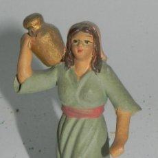 Figuras de Belén: ANTIGUA FIGURA BELEN DE BARRO, TIPO ROSES, CASTELLS O ORTIGAS, MIDE 7,5 CMS. ATENERSE A LAS FOTOGRAF. Lote 35751990