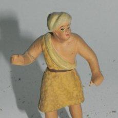 Figuras de Belén: ANTIGUA FIGURA BELEN DE BARRO, TIPO ROSES, CASTELLS O ORTIGAS, MIDE 8,5 CMS. ATENERSE A LAS FOTOGRAF. Lote 35752827