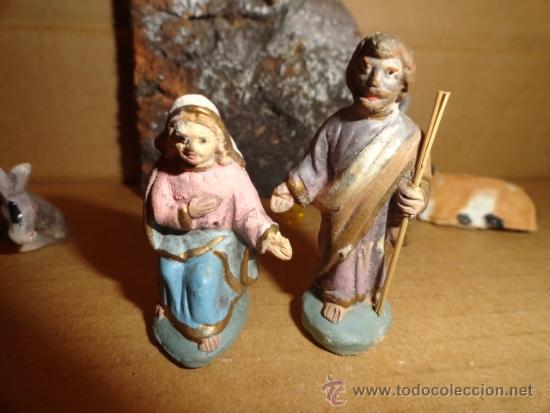 Figuras de Belén: LOTE FIGURAS PESEBRE NACIMIENTO - Foto 3 - 37478685