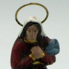 Figuras de Belén: VIRGEN MARÍA BELÉN NACIMIENTO BARRO CACHARRERÍA MURCIANO AÑOS 70. Lote 37587040