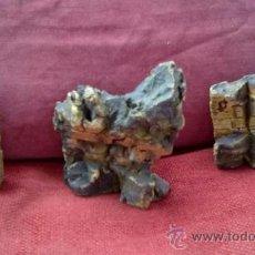 Figuras de Belén: CONJUNTO DE TRES FUENTES PARA BELEN-PESEBRE EN CORCHO. ANTIGUAS AÑOS 40-50. Lote 39187094