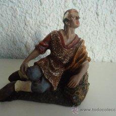 Figuras de Belén: PASTOR ADORANDO EL NACIMIENTO.FIGURA PASTOR DE BELEN. Lote 39293025