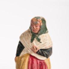 Figuras de Belén: FIGURA DE BELEN O PESEBRE EN TERRACOTA, ANCIANA SENTADA. Lote 39766123