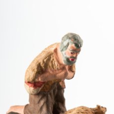 Figuras de Belén: PASTOR CON OVEJA DE TERRACOTA, FIGURA DE PESEBRE O BELEN. Lote 119338123