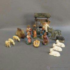 Figuras de Belén: NAVIDAD VINTAGE. 16 FIGURAS DE PVC PARA EL BELÉN. 1950 - 1960.. Lote 39994446