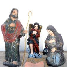 Figuras de Belén: FIGURAS DE BELÉN ANTIGUAS DE BARRO NACIMIENTO SIN NIÑO JESUS ARTESANO SERRANO 22 CM ALTURA. Lote 40241090