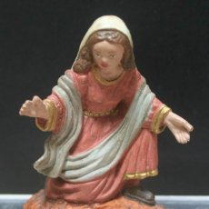 Figuras de Belén: FIGURA PARA BELEN DE LA VIRGEN MARIA MARCA OLIVER AÑOS 70, EN PLASTICO O RESINA 6.5 CENTIMETROS. Lote 40307000