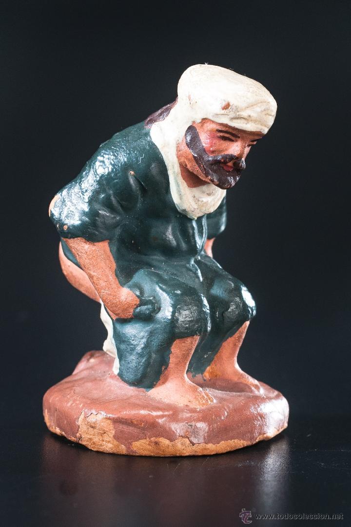 FIGURA- CAGANER- DE PESEBRE O BELEN TERRACOTA (Coleccionismo - Figuras de Belén)