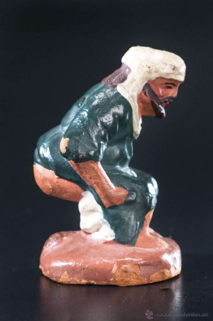 Figuras de Belén: FIGURA- CAGANER- DE PESEBRE O BELEN TERRACOTA - Foto 2 - 40355425