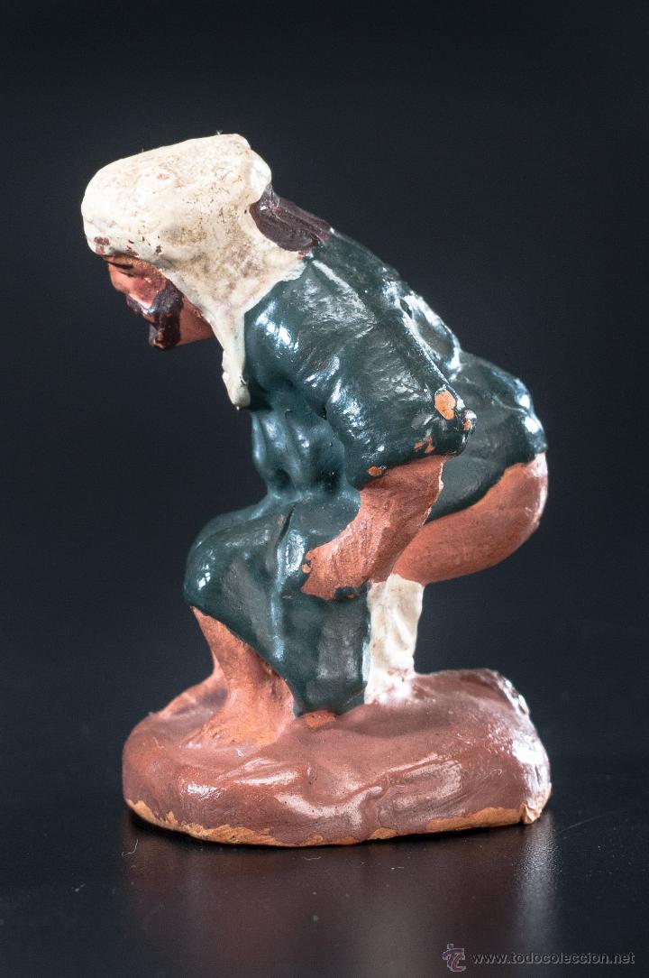 Figuras de Belén: FIGURA- CAGANER- DE PESEBRE O BELEN TERRACOTA - Foto 3 - 40355425
