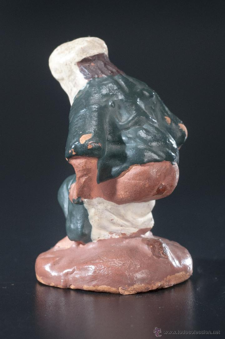 Figuras de Belén: FIGURA- CAGANER- DE PESEBRE O BELEN TERRACOTA - Foto 4 - 40355425