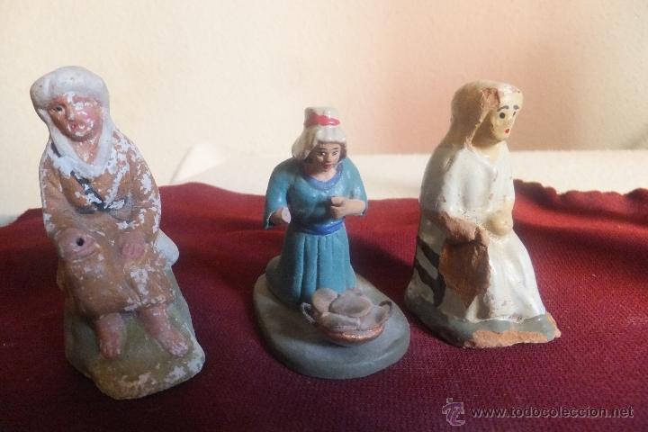 Figuras de Belén: Figura 8 Belén Pesebre. Nacimiento terracota, pastor pastora cazador - Foto 4 - 40549512