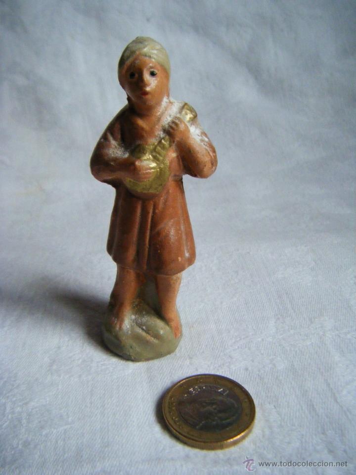 FIGURA BELEN -TERRACOTA - BARRO - ANTIGUA (Coleccionismo - Figuras de Belén)