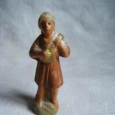 Figuras de Belén: FIGURA BELEN -TERRACOTA - BARRO - ANTIGUA. Lote 40599244