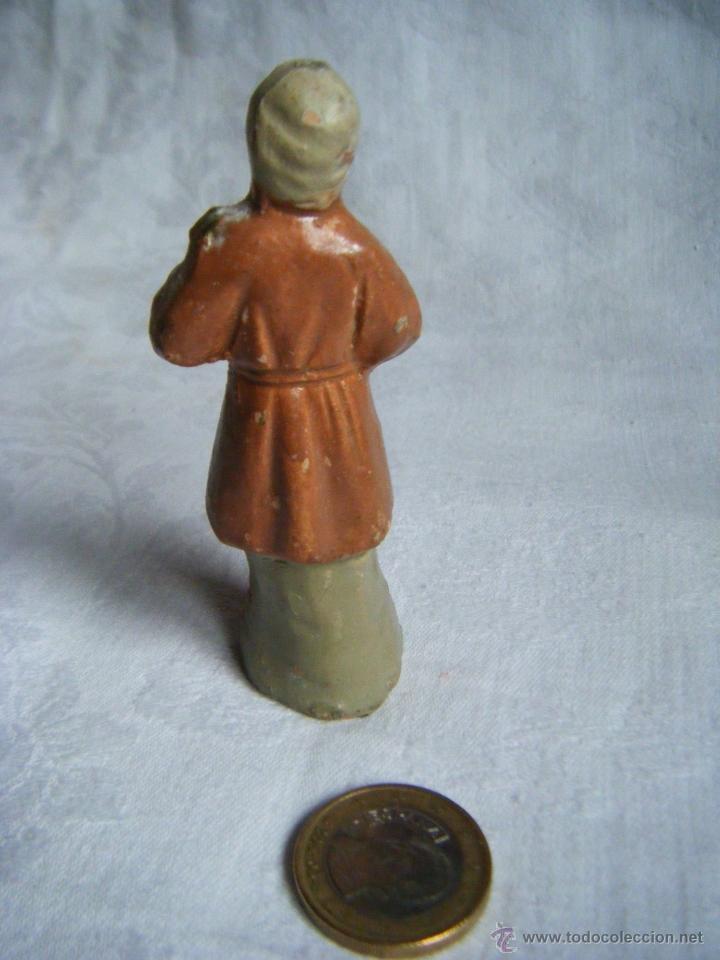 Figuras de Belén: FIGURA BELEN -TERRACOTA - BARRO - ANTIGUA - Foto 2 - 40599244