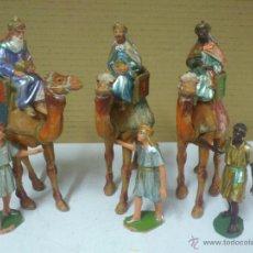 Statuine di Presepe: BELEN - FIGURAS ANTIGUAS REYES MAGOS Y PAJES - PECH, REAMSA... Lote 40646979