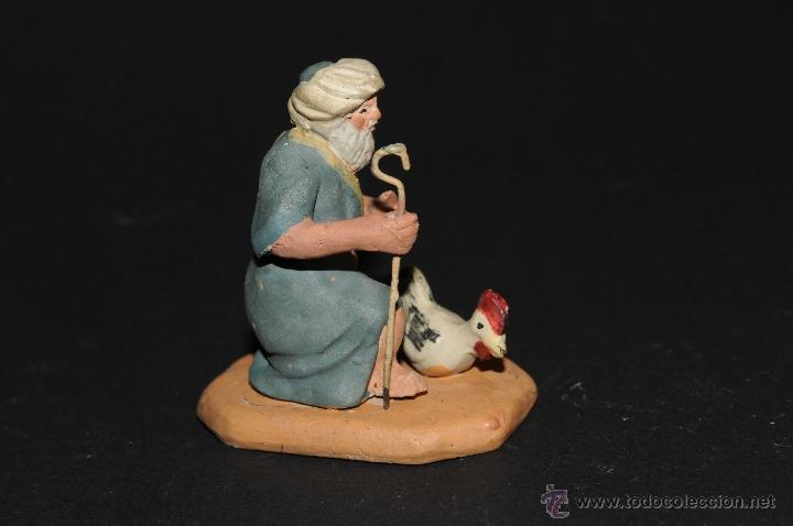 Figuras de Belén: FIGURA DE BELEN O PESEBRE EN TERRACOTA, HOMBRE CON GALLINA - Foto 2 - 40945489