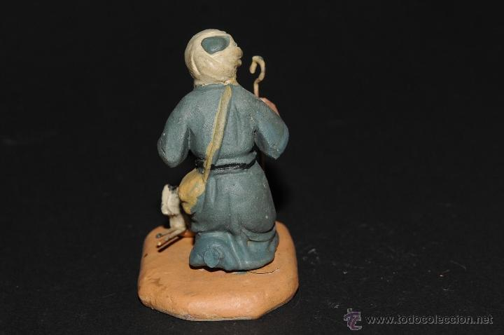 Figuras de Belén: FIGURA DE BELEN O PESEBRE EN TERRACOTA, HOMBRE CON GALLINA - Foto 3 - 40945489