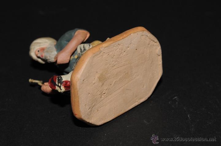 Figuras de Belén: FIGURA DE BELEN O PESEBRE EN TERRACOTA, HOMBRE CON GALLINA - Foto 5 - 40945489