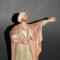 Figuras de Belén: PRECIOSA FIGURA DE BELEN O PESEBRE EN TERRACOTA DE M. CASTELLS, HOMBRE. Lote 40951207