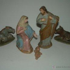 Figuras de Belén: ANTIGUAS Y BONITAS FIGURAS DE TERRACOTA.. Lote 99188776