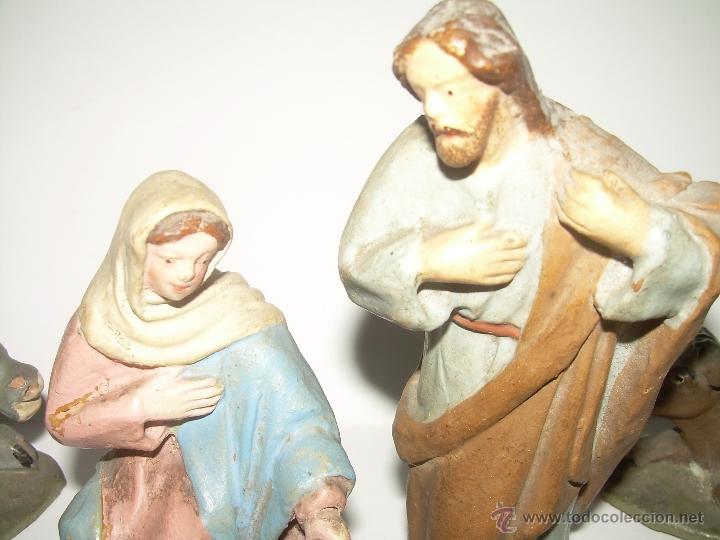 Figuras de Belén: ANTIGUAS Y BONITAS FIGURAS DE TERRACOTA. - Foto 2 - 99188776