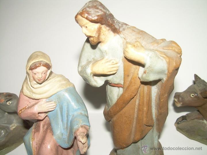 Figuras de Belén: ANTIGUAS Y BONITAS FIGURAS DE TERRACOTA. - Foto 3 - 99188776