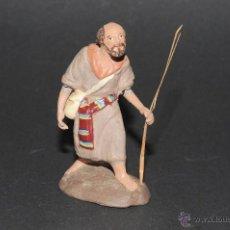 Figuras de Belén: FIGURA DE BELEN O PESEBRE EN TERRACOTA, HOMBRE CON MORRAL-ZURRON. Lote 41485349