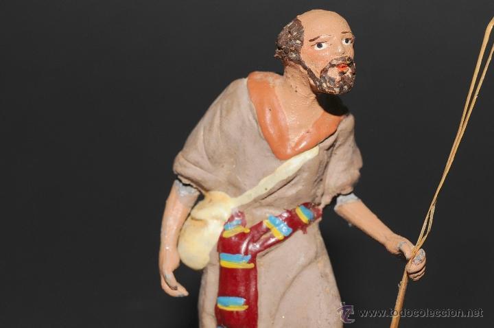 Figuras de Belén: FIGURA DE BELEN O PESEBRE EN TERRACOTA, HOMBRE CON MORRAL-ZURRON - Foto 2 - 41485349