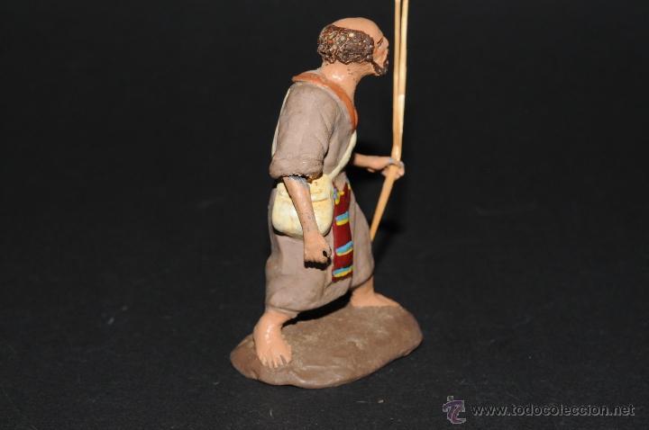 Figuras de Belén: FIGURA DE BELEN O PESEBRE EN TERRACOTA, HOMBRE CON MORRAL-ZURRON - Foto 3 - 41485349