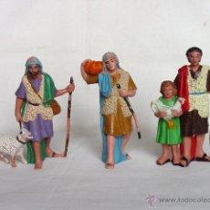Figuras de Belén: LOTE 3 FIGURAS DE BELEN PECH. 10 CM. ALTO. AÑOS 60/70.. Lote 41825982