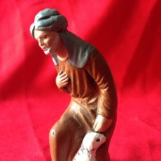 Figuras de Belén: FIGURA DE BARRO DE NACIMIENTO O PORTAL DE BELEN. Lote 42022481