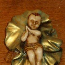 Figuras de Belén: FIGURA NIÑO JESUS EN MARMOLINA O RESINA.. Lote 42198124